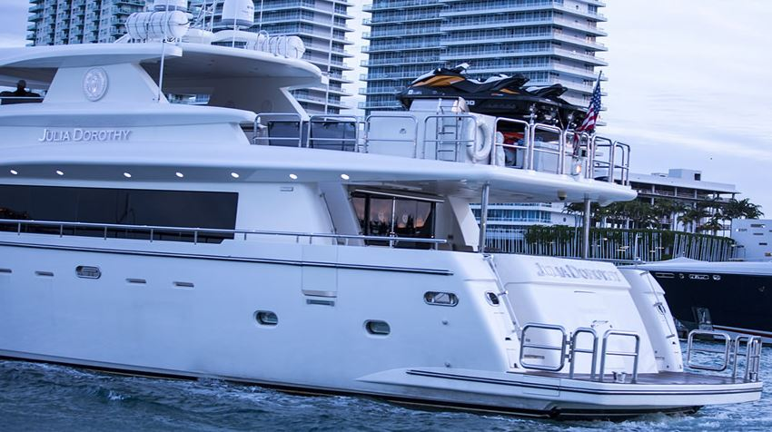 this is an image of a luxury yacht in Miami Florida